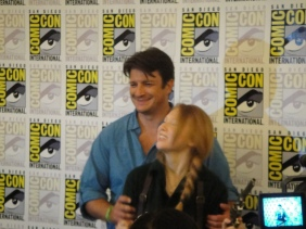 "Nathan Fillion and Molly Quinn of ""Castle"" at Comic-Con"
