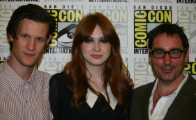Matt Smith, Karen Gillan, Toby Whithouse (Photo credit: Jennifer Schadel)