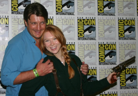 Nathan Fillion and Molly Quinn (photo credit: Jennifer Schadel)