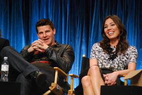 David Boreanaz and Michaela Conlin