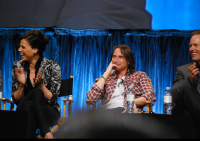 Lana Parrilla, Robert Carlyle and Raphael Sbarge