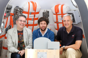 Bill Prady, Simon Helberg, NASA Astronaut Mike Massimino