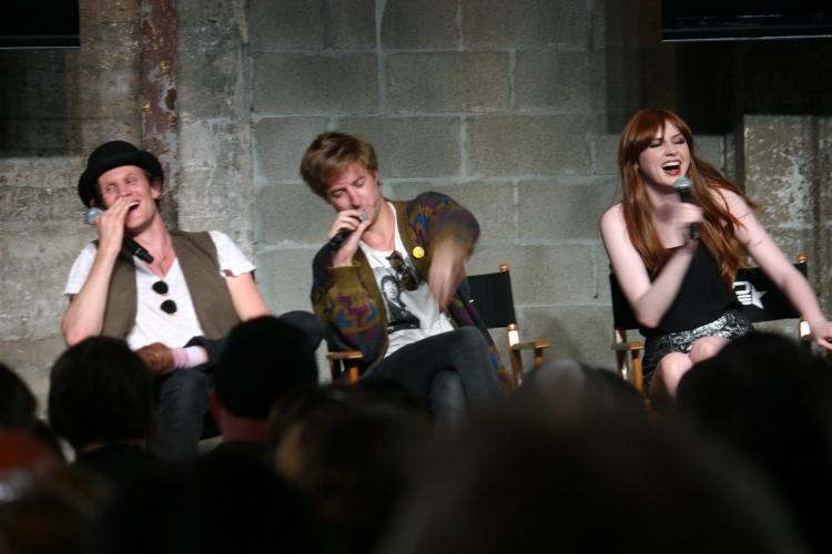 Matt Smith, Arthur Darvill, Karen Gillan (photo credit: Jennifer Schadel)