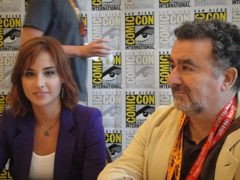 Allison Scagliotti and Saul Rubinek (photo credit: Tiffany Vogt)