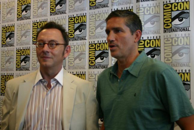 Michael Emerson and Jim Caviezel (photo credit: Jennifer Schadel)