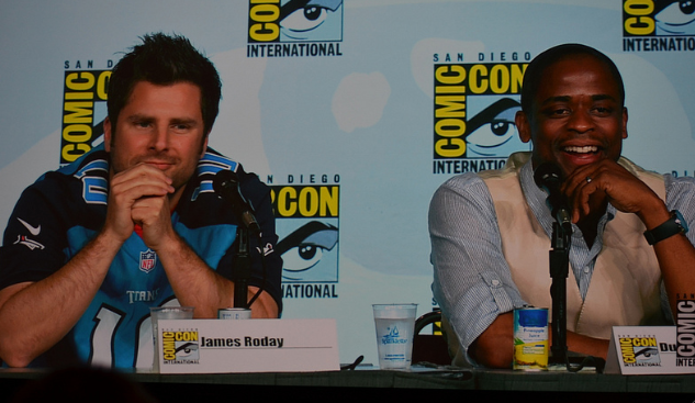 James Roday and Dule Hill (photo credit: Genevieve Collins)
