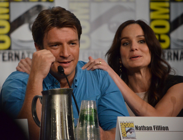 Nathan Fillion and Sarah Wayne Callies (photo credit: Genevieve Collins)