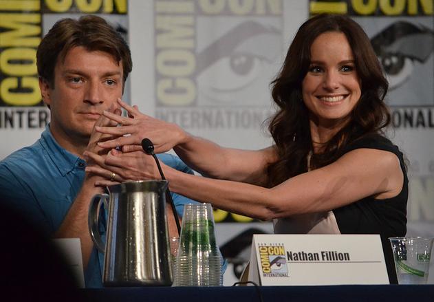 Nathan Fillion and Sarah Wayne Callies  (photo credit: Genevieve Collins)