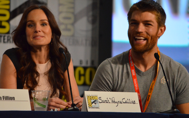 Sarah Wayne Callies and Liam McIntyre  (photo credit: Genevieve Collins)
