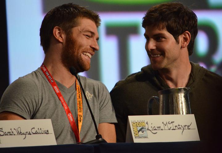 Liam McIntyre and David Giuntoli  (photo credit: Genevieve Collins)