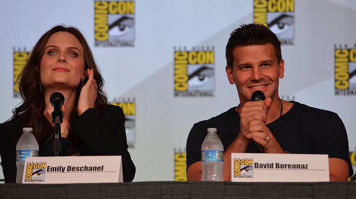 Emily Deschanel and David Boreanaz (photo credit: Genevieve Collins)