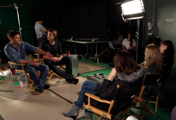 Jensen Ackles and Jared Padalecki (photo credit: Chris Frawley/Warner Bros. Entertainment Inc. )
