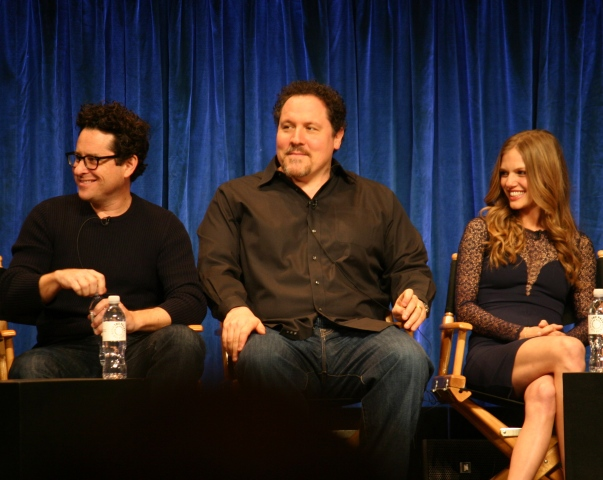 JJ Abrams, Jon Favreau, Tracy Spiridakos photo credit: Jennifer Schadel)