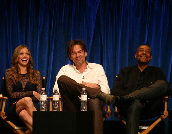 Tracy Spiridakos, Billy Burke, and Giancarlo Esposito photo credit: Jennifer Schadel)