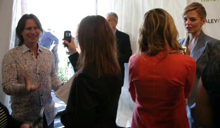 Robert Carlyle and Jennifer Morrison on the pressline (photo credit: Jennifer Schadel)
