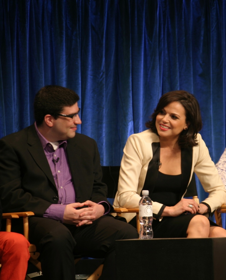 Adam Horowtiz and Lana Parrilla  (photo credit: Jennifer Schadel)