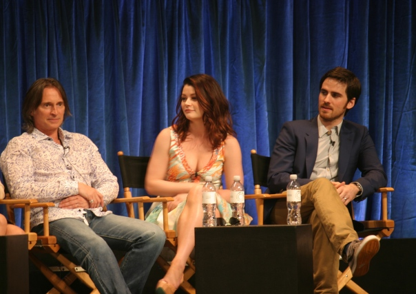 Robert Carlyle, Emilie de Ravin and Colin O'Donoghue  (photo credit: Jennifer Schadel)