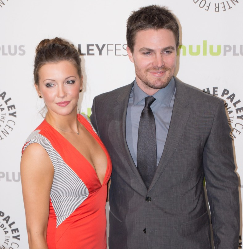 Katie Cassidy and Stephen Amell (photo credit: Courtney Vaudreuil)