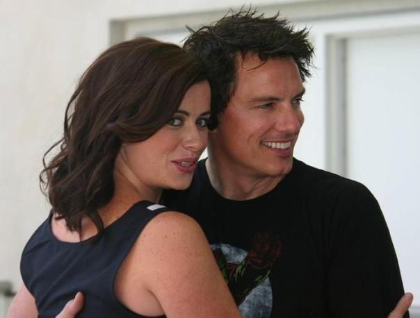 Eve Myles and John Barrowman (photo credit: Jennifer Schadel)