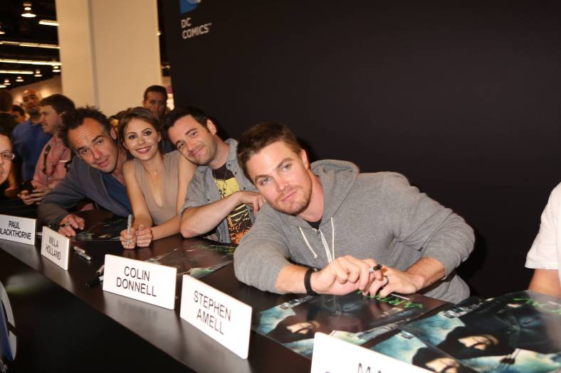 "Cast of ""Arrow"" (©2013 Warner Bros. Entertainment, Inc. All Rights Reserved.)"