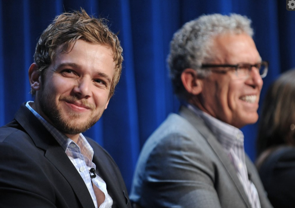 Max Thieriot and Carlton Cuse (photo credit: Kevin Parry Photography)