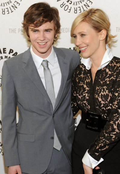Freddie Highmore and Vera Farmiga (photo credit: Kevin Parry Photography)