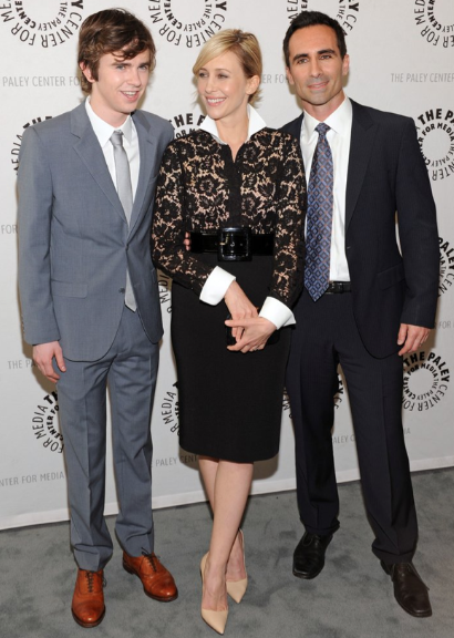 Freddie Highmore, Vera Farmiga, Nestor Carbonell (photo credit: Kevin Parry Photography)