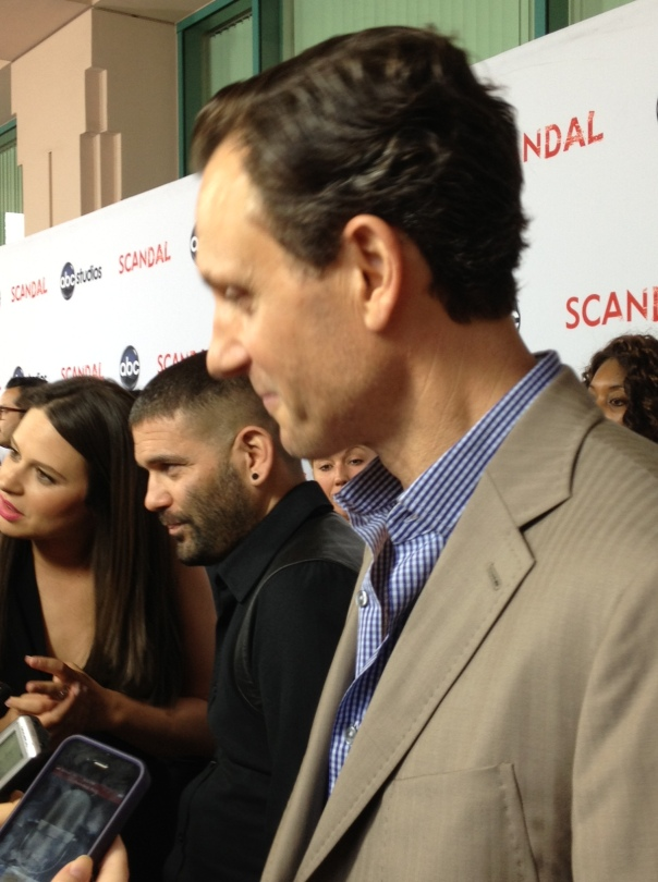 Katie Lowes, Guillermo Diaz, Tony Goldwyn  (photo credit: Tiffany Vogt)