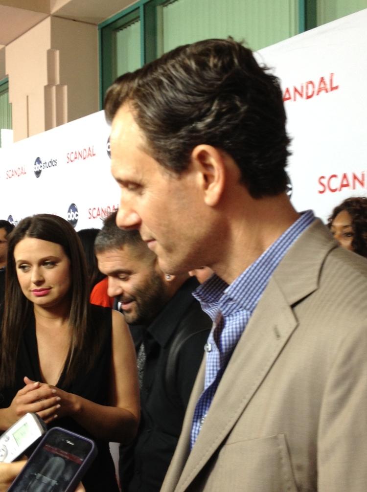 Katie Lowes, Guillermo Diaz, Tony Goldwyn  (photo credit: Tiffany Vogt)
