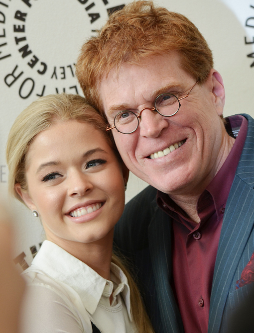 Sasha Pieterse and EP Oliver Goldstick (photo credit: Genevieve Collins)
