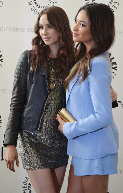 Troian Bellisario and Shay Mitchell (photo credit: Genevieve Collins)