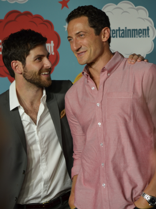 David Giuntoli and Sasha Roiz  (photo credit: Genevieve Collins)