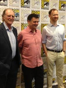 David Bradley, Steven Moffat, Mark Gatiss (photo credit: Tiffany Vogt)