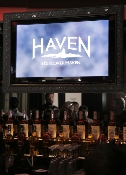 "Wild Turkey, sponsor of ""Haven"" party (Photo credit: Todd Williamson/Invision provided courtesy of eOne)"