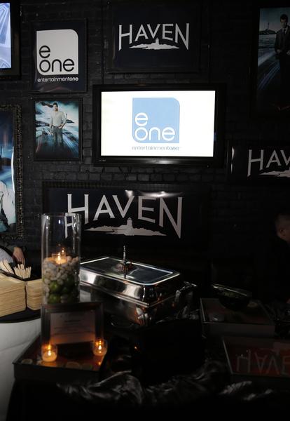 """""""Haven"""" party decor (Photo credit: Todd Williamson/Invision provided courtesy of eOne)"""