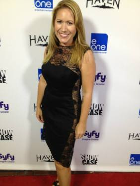 "Jennifer Schadel wearing Christina Cree design at ""Haven"" party (photo credit: Tiffany Vogt)"