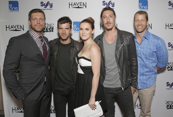 Adam Copeland, Lucas Bryant, Emily Rose, Eric Balfour, Colin Ferguson (Photo credit: Todd Williamson/Invision provided courtesy of eOne)