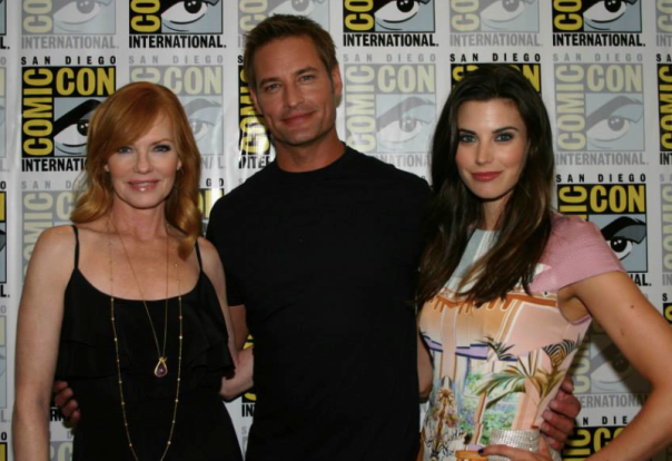 Marg Helgenberger, Josh Holloway, Meghan Ory (photo credit: Jennifer Schadel)