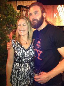 Jennifer Schadel and Clive Standen (photo credit: Tiffany Vogt)