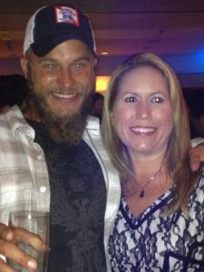Travis Fimmel and Jennifer Schadel (photo credit: Tiffany Vogt)