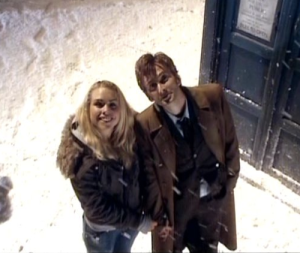 """Rose and The Doctor in """"Doctor Who"""""""