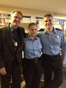 Haven P.D.'s finest (Thomas Cormier, Rosemarie Walton, Colin Hluchaniuk pictured / photo credit: Tiffany Vogt)