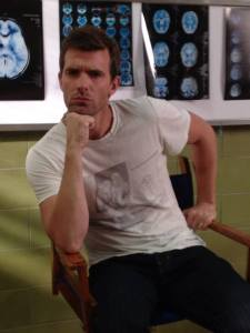 Lucas Bryant strikes a pose determined to not reveal any spoilers!