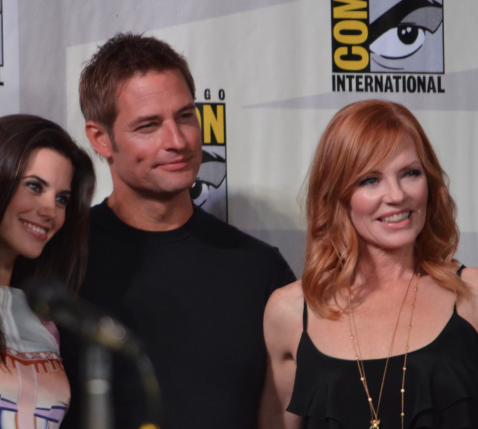 Meghan Ory, Josh Holloway, Marg Helgenberger (photo credit: Genevieve Collins)