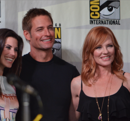 Meghan Ory,  Josh Holloway, and Marg Helgenberger  (photo credit: Genevieve Collins)