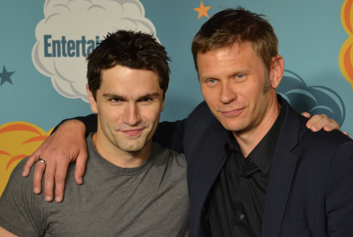 Sam Witwer and Mark Pellegrino (photo credit: Genevieve Collins)
