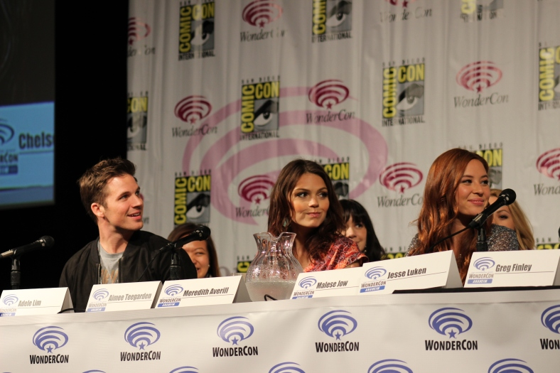 Matt Lanter, Aimee Teegarden, Malese Jow  (photo credit: Jennifer Schadel)