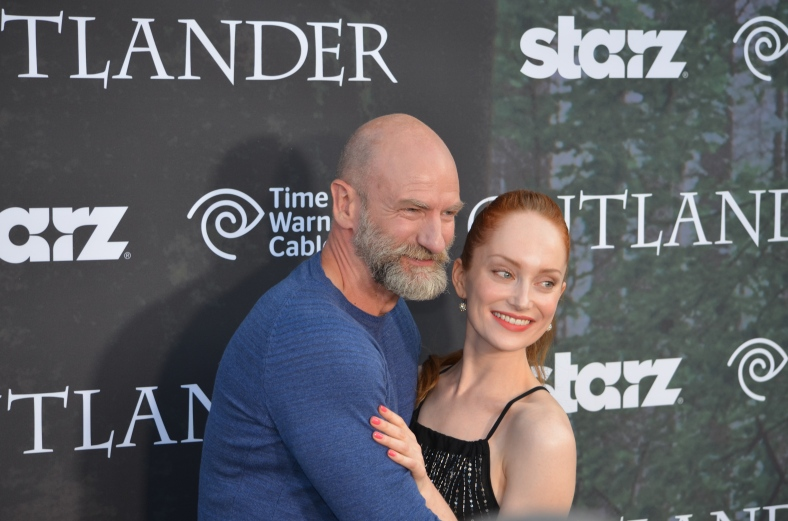 Graham McTavish and Lotte Verbeek (photo credit: Genevieve Collins)