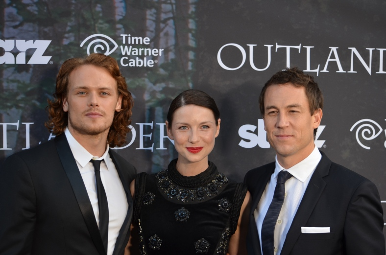 Sam Heughan, Caitriona Balf, Tobias Menzies (photo credit: Genevieve Collins)