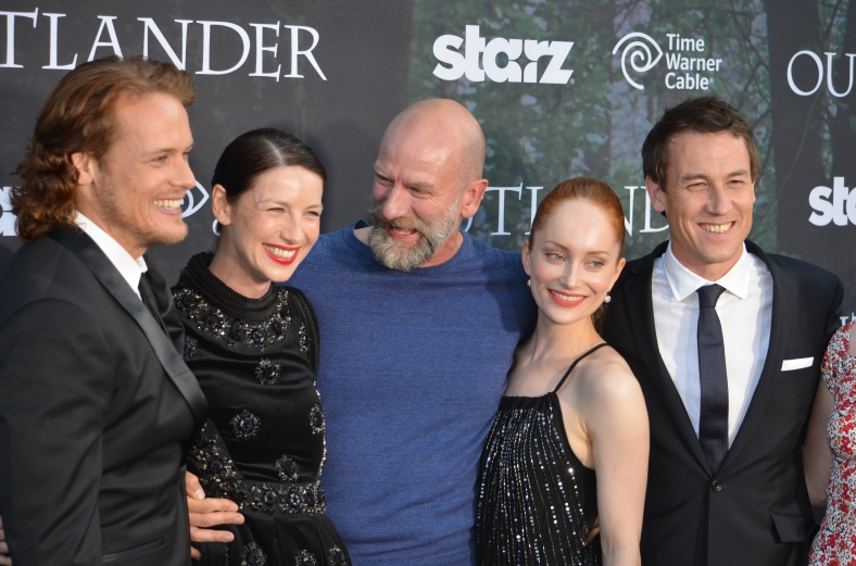 Sam Heughan, Caitriona Balfe, Graham McTavish, Lotte Verbeek, Sam Menzies (photo credit: Genevieve Collins)